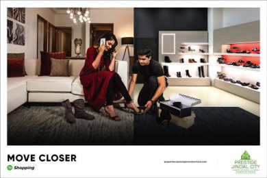 Prestige Jindal City: Move Closer - Shopping Print Ad by Watercrab Bangalore