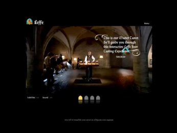 """Leffe Beer: """"Discover Life - Discover Leffe"""" Digital Advert by Euro Rscg 4d Amsterdam"""