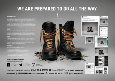 Swedish Armed Forces (SwAF): We Go All The Way [presentation image] Digital Advert by Volt