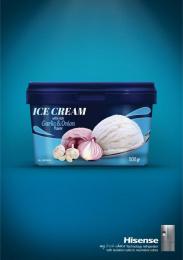 Hisense: Ice-cream Print Ad by Bruckner Yaar Levi Tel-Aviv