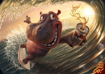 Power Horse: Hippo Print Ad by Rocket Yard