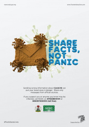 Nigeria Centre for Disease Control: Don't spread it!, 1 Print Ad by 7even Interactive Limited