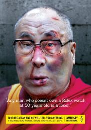 Amnesty International: DALAI LAMA Print Ad by Air Brussels, McCann Brussels