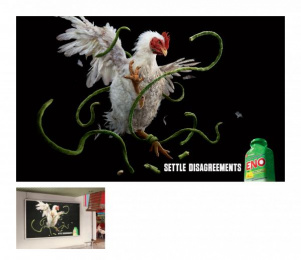 Eno Antacid: CHICKEN vs LONG BEANS Outdoor Advert by Ogilvy & Mather Kuala Lumpur