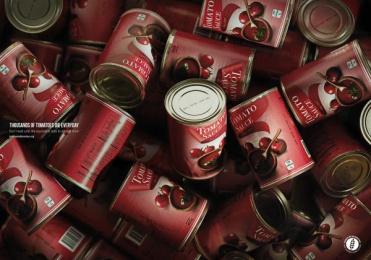 Banco De Alimentos: Tomatoes Print Ad by Mercado McCann