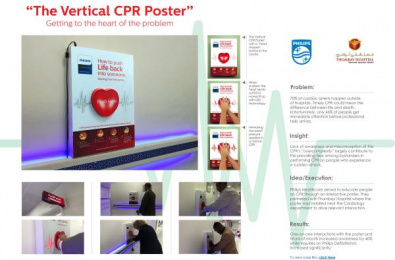 Philips: Vertical CPR Poster Ambient Advert by Prism Advertising