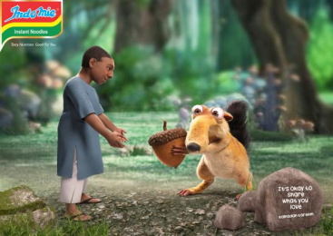 Indomie: Scrat Print Ad by Noah's Ark Lagos