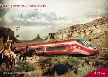 Ntv train: Cinema coach Print Ad by Hyperactive Studio, Lowe Pirella Milan
