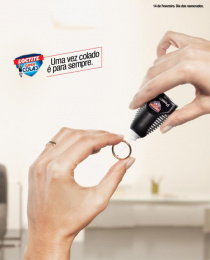 Loctite Super Attak: Ring Print Ad by Guerreiro DDB Lisbon
