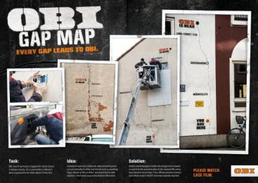 Obi: Gap Map [image] Outdoor Advert by DIGITALSINN, Jung Von Matt/Alster Hamburg