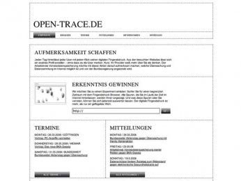 Data Protection Campaign: FINGERPRINTS OPEN TRACE Digital Advert by Nordpol Hamburg