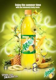 Mirinda: Pineapple Print Ad by Impact BBDO Cairo