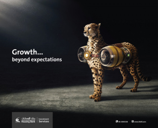 Housing Bank for Trade and Investment: Beyond Expectations: Cheetah Outdoor Advert by Adpro Communications