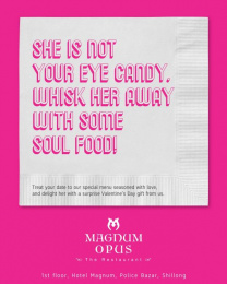 Magnum Opus The Restaurant: Eye Candy Print Ad by Black Sheep