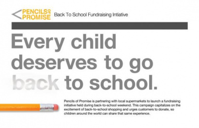 Pencils of Promise: Back-To-School Fundraising Initiative, 1 Digital Advert by VCU School of Mass Communications / Hanover