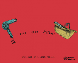 United Nations: Keep Your Distance, 1 Print Ad by Salsa Lima
