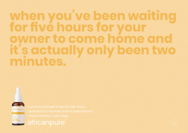 africanpure CBD: Waiting Print Ad by Canvas Cape Town