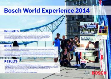 Bosch: BOSCH - WORLD EXPERIENCE 2014 Digital Advert by NETEYE