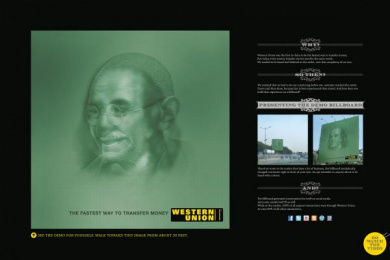 Western Union Money Transfer: Western Union Demo Billboards Print Ad by McCann Erickson Mumbai