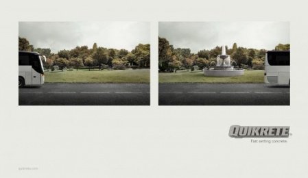 Quikrete: Fountain Print Ad by Fitzgerald+co.