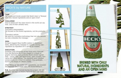 Becks Beer: Nature Outdoor Advert by Lowe Swing Communications Sofia