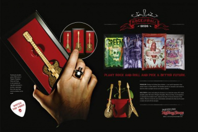 Rolling Stone: ROCK AND ROLL SEEDS Design & Branding by Fischer America Sao Paulo