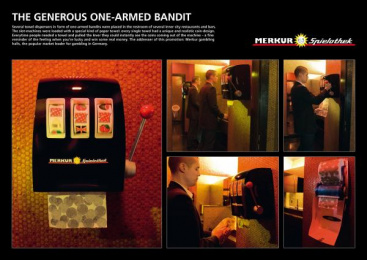 Gambling Hall Operator: ONE ARMED BANDIT Print Ad by .start