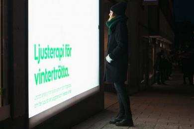 Apotek Hjärtat: Light Therapy, 1 Outdoor Advert by Wenderfalck Stockholm