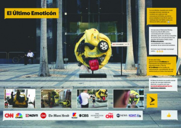 Sprint: The Last Emoji [image] [spanish] Ambient Advert by Alma Miami