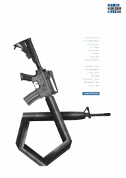 March For Our Lives: Bump Fire System Print Ad by MullenLowe SSP3 Bogota