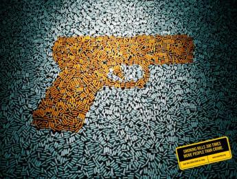 Quit: Gun Print Ad by 1pointsize