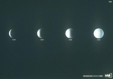 Masters Of Augusta Tv Programme: LUNAR PHASES Print Ad by Y&R Madrid