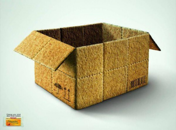 Integrackers Wheat Crackers: BOX Print Ad by Quorum Saatchi & Saatchi Lima