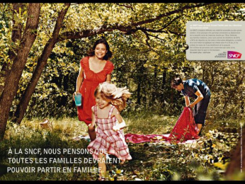 "Sncf: ""Families"" Print Ad by TBWA Paris"