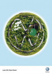 Volkswagen: Green Planet Print Ad by Team collaboration