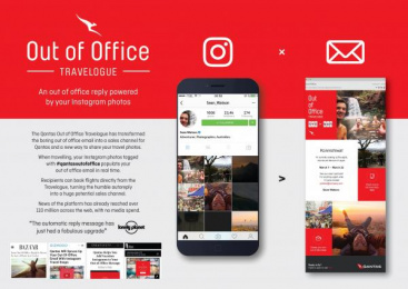 Qantas: Out Of Office Travelogue [image] Digital Advert by The Monkeys