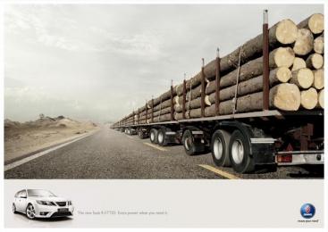 Saab 9-3 Ttid Extra Power: TRUCK Print Ad by Leagas Delaney Milan