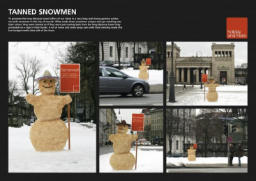 Holiday And More: SNOWMAN Ambient Advert by .start
