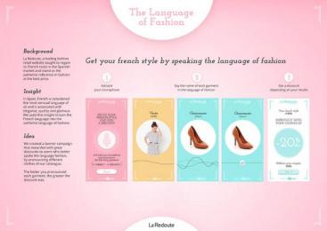 La Redoute: The Language of Fashion, 3 Digital Advert by J. Walter Thompson Barcelona, Ogilvyone Worldwide Barcelona