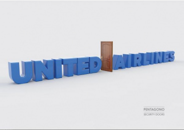 Pentagono Security Doors: United Airlines Print Ad by Dhélet Y&R