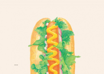 H'or cafe: FOOD TYPOGRAPHY , 4 Print Ad