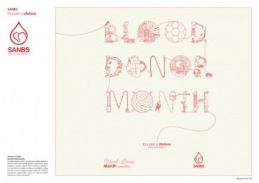 South African National Blood Service (SANBS): SANBS Campaign, 4 Design & Branding by Lowe Johannesburg