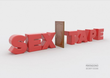Pentagono Security Doors: Sex Tape Print Ad by Dhélet Y&R