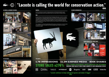 Lacoste: Crocodile free - Case Image Case study by BETC Euro Rscg Paris