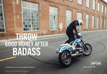 Simpson: Badass Print Ad by Luquire George Andrews (LGA) Advertising