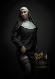 NYC Botanics: Naughty Nun Print Ad by GSW Healthcare