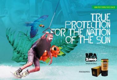 Brazinco: Kitesurf Print Ad by Carnaby