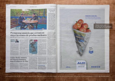 Aldi: Fresh Prints - TOMATOES Print Ad by McCann Madrid