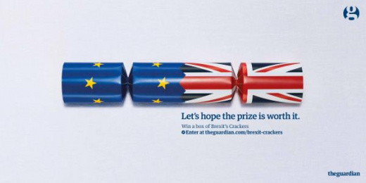 The Guardian: Brexit Christmas Crackers Print Ad by mcgarrybowen London