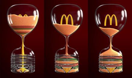 McDonald's: Iftar Sand Clock, 2 Print Ad by Leo Burnett, Saudi Arabia